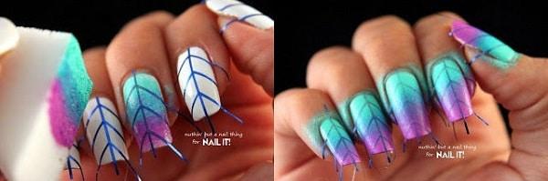 vẽ móng tay bằng băng dính