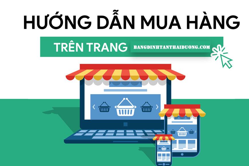 hướng dẫn mua hàng tại website